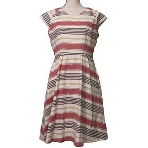 Mata Traders fit and flare striped dress size MED
